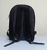 Черный городской рюкзак из кружева, фото 4