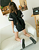 Черный городской рюкзак из кружева, фото 2