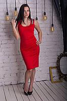 """Красное платье майка  """"Шанель"""", фото 1"""