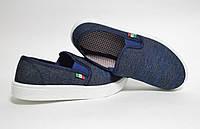 Мокасины мужские джинсовые Св, фото 1