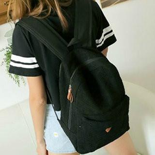 Черный городской рюкзак из кружева