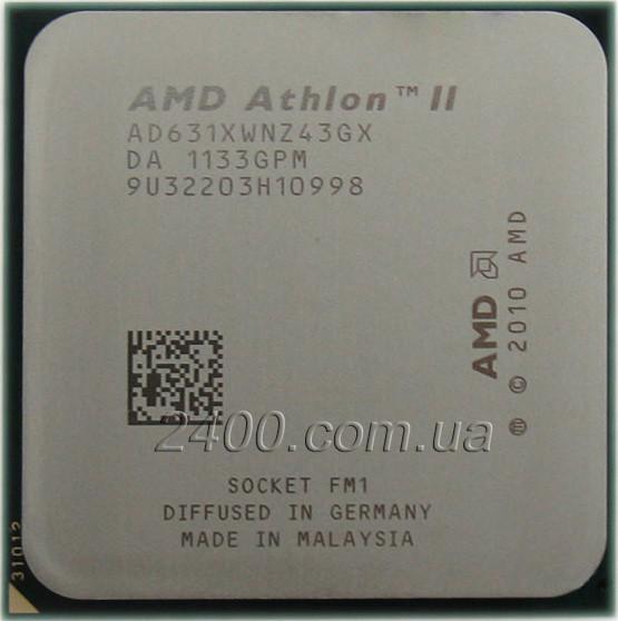 Процессор AMD Athlon II X4 631 2.6GHz/ 4MB (AD631XWNZ43GX) Socket FM1
