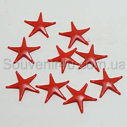Звезда пластиковая красная (100 шт/уп)