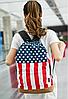 Рюкзак городской Британский и Американский флаг, фото 2