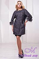 Женское весеннее пальто букле (р. S, M, L) арт. Ванда крупное букле - 9728