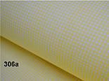 Лоскут ткани №306а  с мелкой жёлтой клеточкой, размер 52*52 см, фото 2