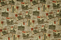 Мебельная ткань велюр  Принт 2А (производство Мебтекс)