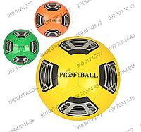 Мяч футбольный EV 3218, размер 5, ПВХ, 1,6 мм, 32 панели, 300-320 гр, 3 цвета