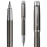 Перьевая ручка Паркер IM Premium Gun Metal, хром