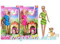 Кукла Defa Lucy с собачкой, 3 вида: собачка + миска +косточка