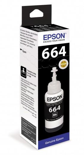 Чернила EPSON 664 Black Оригинальные (T6641) (C13T66414A) для L100, L200, L300 серий принтеров (70мл)
