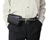 Мужская сумка-кошелек на пояс кожаная Marco Coverna