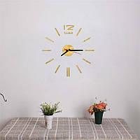Часы интерьерные на стену с палочками (диаметр 0,35 - 0,5 м) золотые [Пластик]