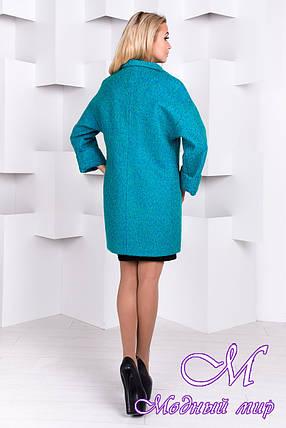 Женское весеннее пальто с брошью (р. S, M, L) арт. Кларенс крупное букле - 9796, фото 2
