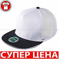 Пятипанельная Кепка Тракер цвет БЕЛЫЙ/ЧЕРНЫЙ MB6636