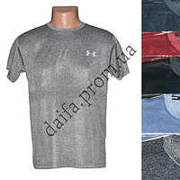 Мужская котоновая футболка 011g (в уп. до 5 разных расцветок) оптом со склада в Одессе