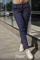 Летние женские джинсы в горошек Размер: С М Л