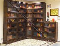Угловой шкаф для книг 0014