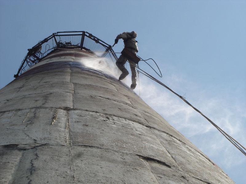 Ремонт, реконструкция дымовых труб и гран башен - Силамет в Киеве