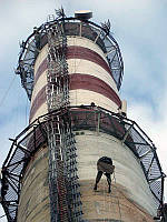 Ремонт силостных башен, высотных труб