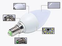10шт.! 3W Е14 10LED Экономная светодиодная лампа - свеча, LED лампа КАЧЕСТВО!, Акция