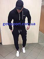 Весенний мужской спортивный костюм на молнии Nike черный