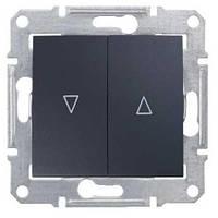 Выключатель для жалюзи с мех. блок. Schneider-Electric Sedna SDN1300370 графит