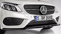Губа спойлер накладка на передний AMG бампер Mercedes C C-Class W204 AMG 2014+ Новая Оригинальная
