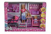 """Кукольный набор Simba """"Штеффи с детьми и аксессуарами"""" (5736350)***, фото 1"""