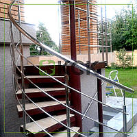 Ограждение радиусное для лестницы