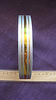 Лента подарочная серебро с золотой полоской 20 мм. вся катушка 45 м