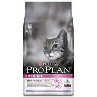Pro Plan Delicate 10 кг для котов с чувствительной кожей с индейкой