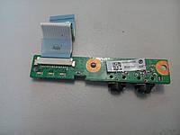Плата аудио разъемов со шлейфом HP CQ 61 320P6A8000 DA00P6AB6D0, фото 1