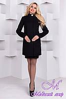 Женское черное кашемировое пальто (р. S, M, L) арт. Мелини 76 - 9424