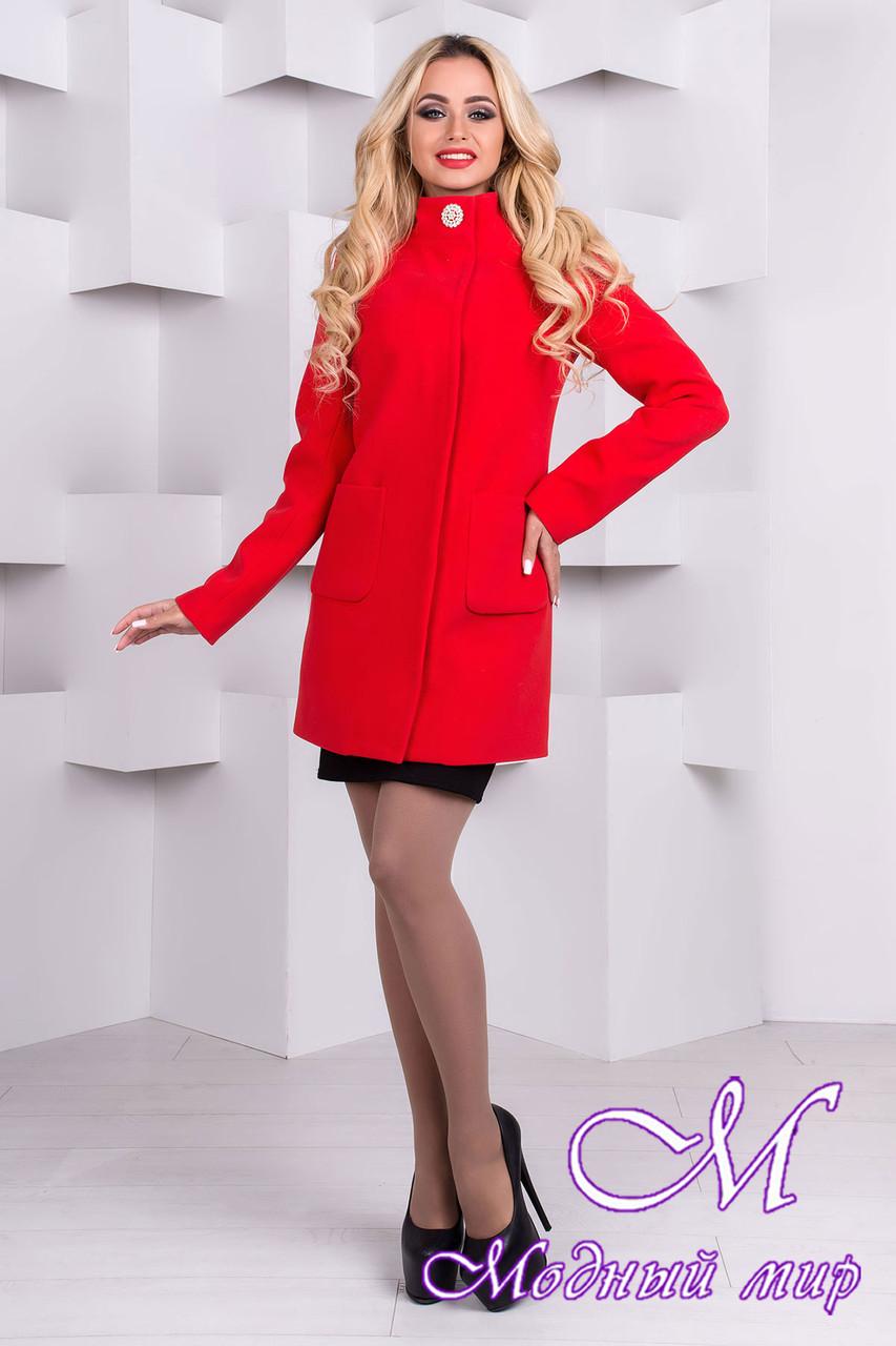 Женское красное кашемировое пальто (р. S, M, L) арт. Мелини 76 - 9426