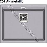 Прямоугольная гранитная мойка 555х455 мм. Aquasanita (Литва) Delicia SQD 100, монтаж под или в столешницу, фото 7
