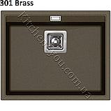 Прямоугольная гранитная мойка 555х455 мм. Aquasanita (Литва) Delicia SQD 100, монтаж под или в столешницу, фото 8