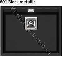 Прямоугольная гранитная мойка 555х455 мм. Aquasanita (Литва) Delicia SQD 100, монтаж под или в столешницу