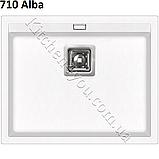 Прямоугольная гранитная мойка 555х455 мм. Aquasanita (Литва) Delicia SQD 100, монтаж под или в столешницу, фото 3