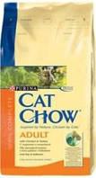 Cat Chow с курицей и индейкой 15 кг для кошек
