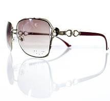 Объемные женские солнцезащитные очки-авиаторы с замысловатой дужкой, фото 2