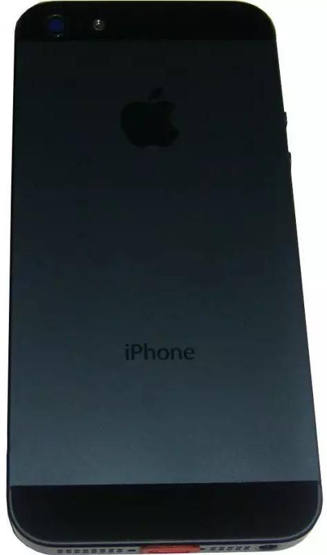 Задняя крышка iPhone 5 black (оригинал) + лоток сим-карты + боковые кн