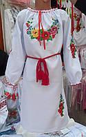 Платье вышитое Мальвы