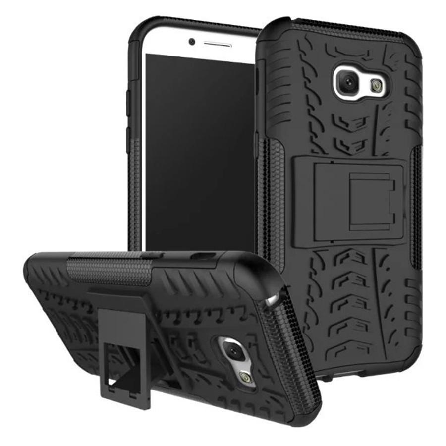 Чехол Samsung A520 / A5 2017 противоударный бампер черный