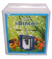 Пресс для яблок Вилен 20 литров нержавейка