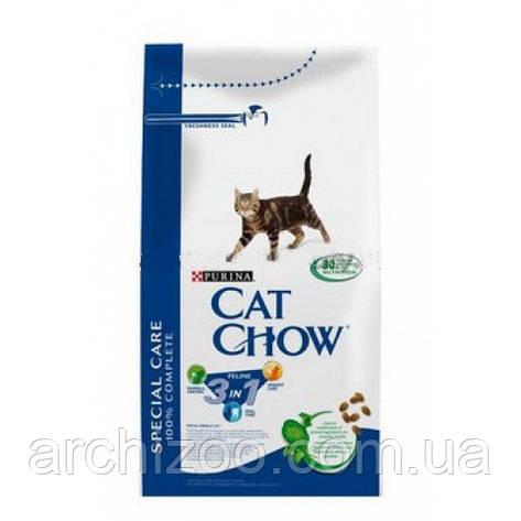 Cat Chow Special Care 3 in 1 15кг для взрослых кошек с формулой 3-го действия, фото 2