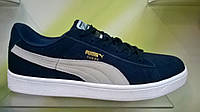 Мужские кроссовки Puma Suede синие с белым, фото 1