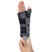 Ортез для лучезапястного сустава и суставов большого пальца с анатомическими шинами EH-403 (левый)
