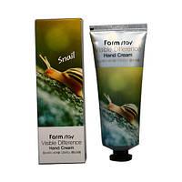 Корейский крем для рук с муцином улитки Farm Stay Visible Difference Hand Cream Snail