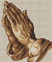 """Набор для вышивки крестиком (религия) """"Молящие руки"""""""